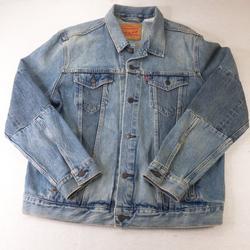 Levi's Jackets & Coats   Levis Denim Jacket Mens Large Button Denim Jeans   Color: Blue/White   Size: L
