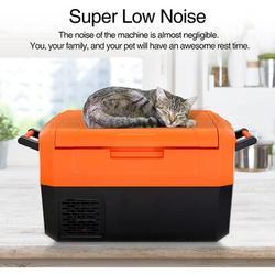 Amzseed Portable Car Refrigerator, Compact Travel Freezer Fridge Dual Zone w/ Lcd Display, Bluetooth Control in Orange | Wayfair AS-FX1001-OG