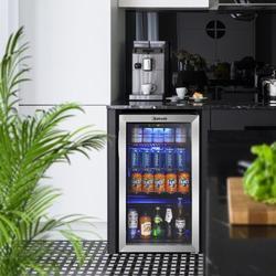 Astroai Portable Beverage Refrigerator & Cooler- 120 Can Mini Fridge w/ Glass Door - Drink Fridge For Office/Bar, Size 34.0 H x 20.0 W x 22.0 D in