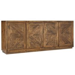 """Hooker Furniture TV Stand for TVs up to 80"""" Wood in Brown, Size 36.5 H in 