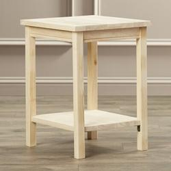 Mistana™ Lynn Wood End Table Wood in Brown, Size 20.0 H x 16.0 W x 14.0 D in   Wayfair 161D3910835448F49255A4A3E1F80461