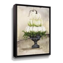 August Grove® Triple Pumpkin Urn - Painting on Canvas Canvas & Fabric in White, Size 36.0 H x 48.0 W x 2.0 D in   Wayfair