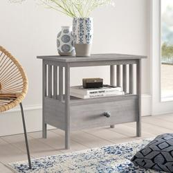 """Mistana™ Lynn Solid Wood TV Stand for TVs up to 32"""" Wood in Gray/Brown, Size 23.6 H x 27.25 W x 17.25 D in   Wayfair"""