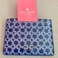 Kate Spade Accessories | Kate Spade Small Slim Card Holder Spade Link Blue | Color: Blue/White | Size: Os