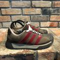 Adidas Shoes | Adidas Mens Brown Burgundy Sneaker Shoes Size Us 9 | Color: Brown/Red | Size: 9