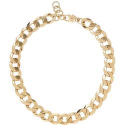 Xxl Curb Chain Necklace - Metallic - Loren Stewart Necklaces