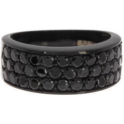 925 Sterling Silver Black Spinel Ring - Black - Effy Rings