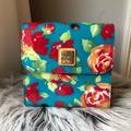 Dooney & Bourke Bags   Dooney & Bourke Pvc Vinyl Floral Cross Body Bag   Color: Blue/Red   Size: Os