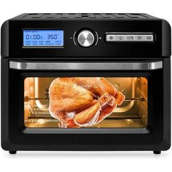 Love life Air Fryer Toaster Oven,20 Quart 10-In-1 Convection Oven Combo, Roaster, Broiler, Rotisserie, Dehydrator, Pizza Oven in Black | Wayfair