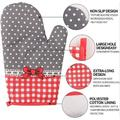 hodog2015 Oven Mitts & Pot Holders Sets, 600° Heat Resistant Oven Mitts, Potholders, Oven Gloves Silicone Heat Resistant Cooking Pinch Mitts in Gray