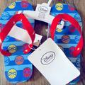 Disney Shoes | Brand New Spider-Man Flip Flops 1112c | Color: Blue/Red | Size: 12b