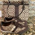 Coach Shoes   Coach Sneakers With Complimentary Handbag   Color: Brown/Tan   Size: 6