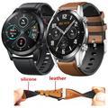 Bracelet en cuir et Silicone pour Huawei Honor Magic Watch 2, 46mm, pour Huawei Watch GT 2