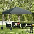 Mutia 8 X 8 Feet Outdoor Pop Up Canopy Tent w/ Roller Bag & Sand Bags, Size 82.0 H x 80.0 W x 80.0 D in | Wayfair Y53206971GR