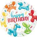 Creative Converting Party Balloon Animal Happy Birthday Paper Plates 24 Count | Wayfair DTC350533DPLT
