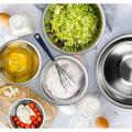 FAW Stainless Steel Mixing Bowls Set Of 6 Mixing Bowls Set For Kitchen - Easy To Clean Nesting Bowls Set w/ Measuring Cups & Spoons - Great For Cook