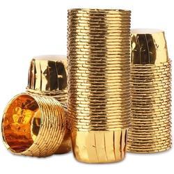 honer 100Pcs 3.5 Oz Disposable Aluminum Ramekins, Foil Cupcake Baking Cups, Aluminum Foil Muffin Liners, Aluminum Cups, Cupcake Ramekin Holder Cups