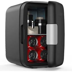 Love life Mini Fridge, 6 L/8 Can Portable Fridge, Cooler & Warmer Compact Small Refrigerator w/ AC/DC Power, For Skincare, Medications, Beverage