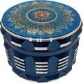 mskey Gear Blue Mandala Grinder 4 Part Aluminum Grinder Colorful Large 4 Piece Grinder in Blue/Green, Size 2.4 H x 2.4 W x 2.4 D in   Wayfair