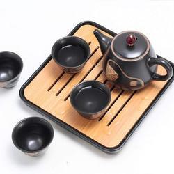 Red Barrel Studio® Ceramic Tea Set for 4 people in Black, Size 4.45 H x 8.78 W x 9.17 D in   Wayfair ABB35088F364405AA42E65A840B9B93C