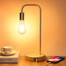 Latitude Run® Touch Control Table Lamp, USB Desk Lamp, 3 Way Dimmable Modern Nightstand Lamp w/ Two USB Charging Ports For Bedroom, Living Room