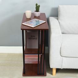 Ebern Designs Bedside Table Nightstand, Storage Shelves 3-Tier Wooden Top Bedroom End Table Night Stand Wood in Brown | Wayfair