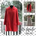 Kate Spade Jackets & Coats | Kate Spade Coral Lightweight Peacoat Jacket Xs | Color: Pink/Red | Size: Xs