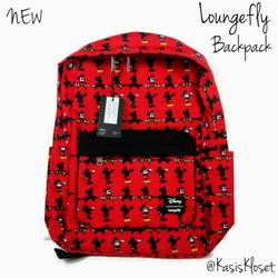 Disney Accessories   Disney Loungefly Mickey Mouse Backpack New Nylon   Color: Black/Red   Size: Standard Backpack