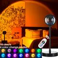 Lampe Led au coucher du soleil, 16 couleurs, projecteur de nuit, pour salon, bar, boutique,
