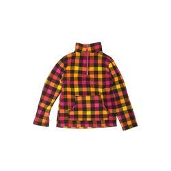 Arizona Jean Company Fleece Jacket: Pink Checkered/Gingham Jackets & Outerwear - Size Small