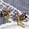 Anthropologie Jewelry   3 Items Free Shipping Les Nereides Earrings   Color: Black/Pink   Size: Os