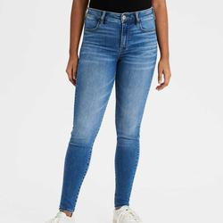 American Eagle Outfitters Jeans | American Eagle Denim Jeans High Rise Jegging Jean | Color: Blue/White | Size: 6