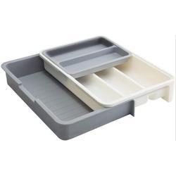 Rebrilliant Silverware Drawer Organizer Expandable Adjustable Utensil Cutlery Tray For Kitchen 7 Compartment Utensil Organizer Multi-Purpose Storage For Kitchen Plastic
