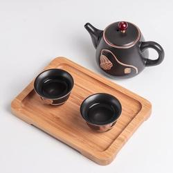 Red Barrel Studio® Ceramic Tea Set for 2 people in Black, Size 4.33 H x 6.46 W x 9.25 D in | Wayfair 4EA967F0796B455199D4C6017B0ACE7F