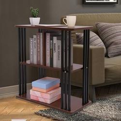 Ebern Designs Nightstand Bedside Table, 3-Tier Wooden Top Storage Shelves Night Stand Bedroom End Table Wood in Brown | Wayfair