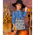 Mia Belle Girls Girls' Casual Dresses Denim - Blue Pleated Denim Button-Front Dress - Toddler & Girls