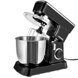RYDCOT Stand Mixer, 4.5L 380W 10 Speeds Tilt-Head Food Mixer, Kitchen Electric Mixer in Black, Size 14.11 H x 14.8 W x 7.93 D in | Wayfair