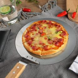 """tarye Stainless Steel Pizza Peel, 10"""" Round Heat-Resisting Pizza Paddle,With Non-Slip Wood Handle, Pizza Peel Pad For Baking Homemade Pizza & Bread"""