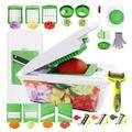 yuzhuoyongchi Adjustable Mandoline Slicer in Green/White, Size 13.6 H x 6.1 W x 4.5 D in   Wayfair yuzhuoyongchiad38f16
