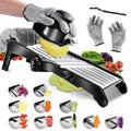 yuzhuoyongchi Mandoline Food Slicer- Adjustable Stainless Steel Vegetable Slicer,Perfect For Cheese, Zucchini in Black/Gray | Wayfair