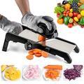 yuzhuoyongchi Mandoline Slicer For Food & Vegetables -Adjustable Kitchen Vegetable Slicer For Potatoes & Onion| French Fry Slicer in Black | Wayfair
