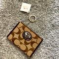 Coach Accessories   Coach Signature Sutton Id Card Case Coin Pouch Nwt   Color: Brown/Tan   Size: Os