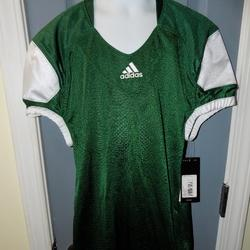 Adidas Shirts & Tops | Adidas Youth Press Coverage Jersey Football Top | Color: Green/White | Size: Mb