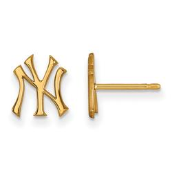 """""""Women's New York Yankees 14k Yellow Gold Extra Small Post Earrings"""""""