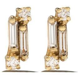 Suzanne Kalan Puces d'oreilles en or jaune 18ct ornées de diamant