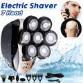 Rasoir électrique 7D pour hommes, 7 lames de rechange, tête flottante intelligente, étanche,