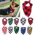 Bandana en coton pour chien, 1 pièce, grand foulard pour animaux de compagnie, Plaid, nœud lavable,