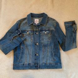 Lularoe Jackets & Coats   Lularoe Harvey Aztec Embroidered Denim Jean Jacket   Color: Blue   Size: L