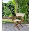 Teak Director's Chair with Natural Seat Covers - Prime Teak by Whitecap Teak 60044