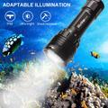 Lampe de poche LED DL30 3600lm, lanterne de plongée sous-marine 3 * LH351D, lampe de poche à haut